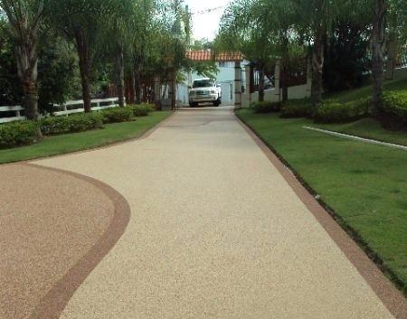 Decorative Pebble Pathways - Pebble Driveway - PebbleKote