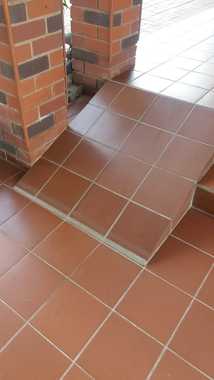 Non-slip coating for tiles - GripKote on Terracotta Tiles