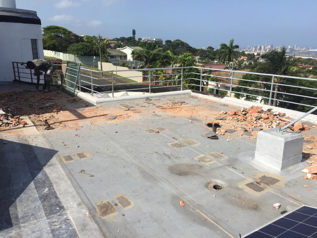 Prepping a roof for Waterproofing