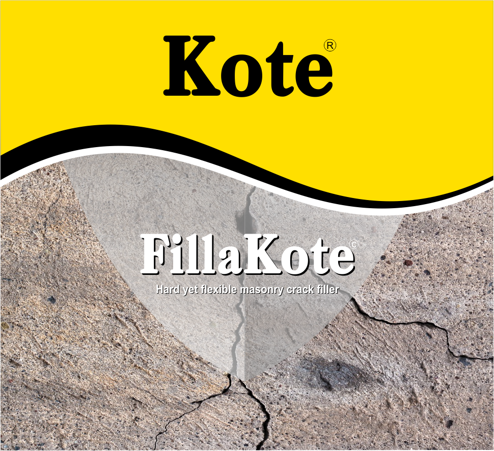FillaKote - A crack filler that is highly flexible and hardwearing