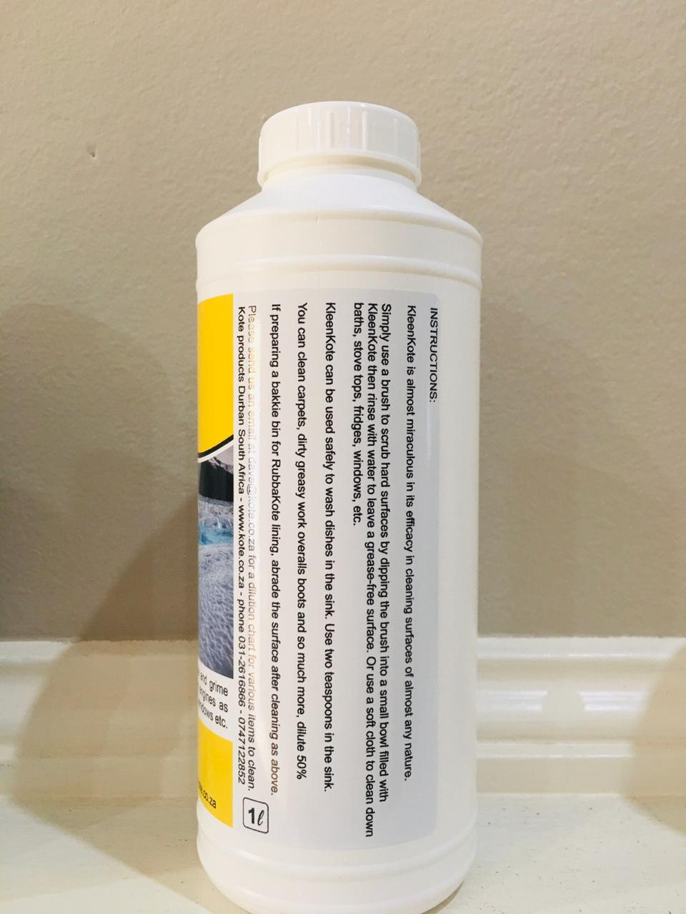 KleenKote - The only cleaning liquid that removes 100% of the dirt and algue