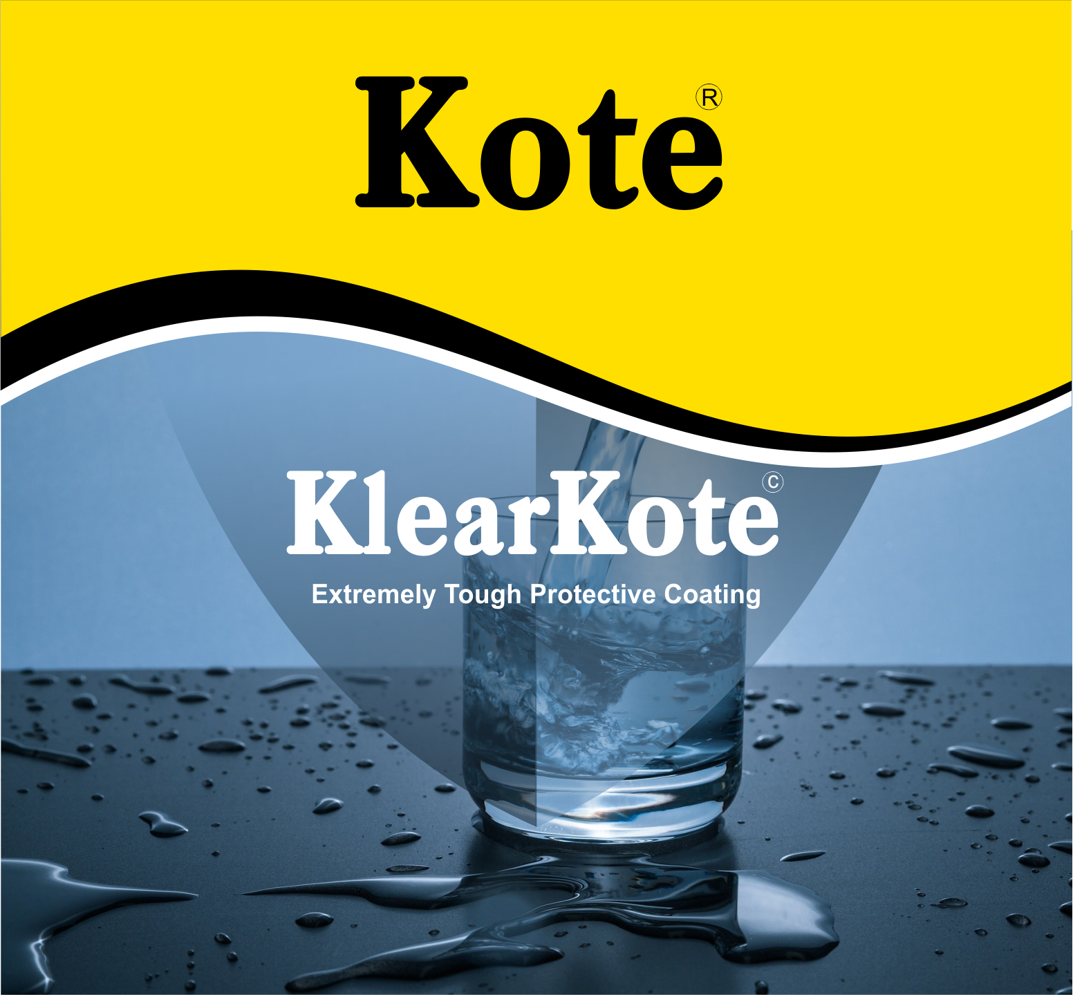KlearKote - Clear Protective Coating - Extra Waterproofing Coating - Waterproof - Clear Coating