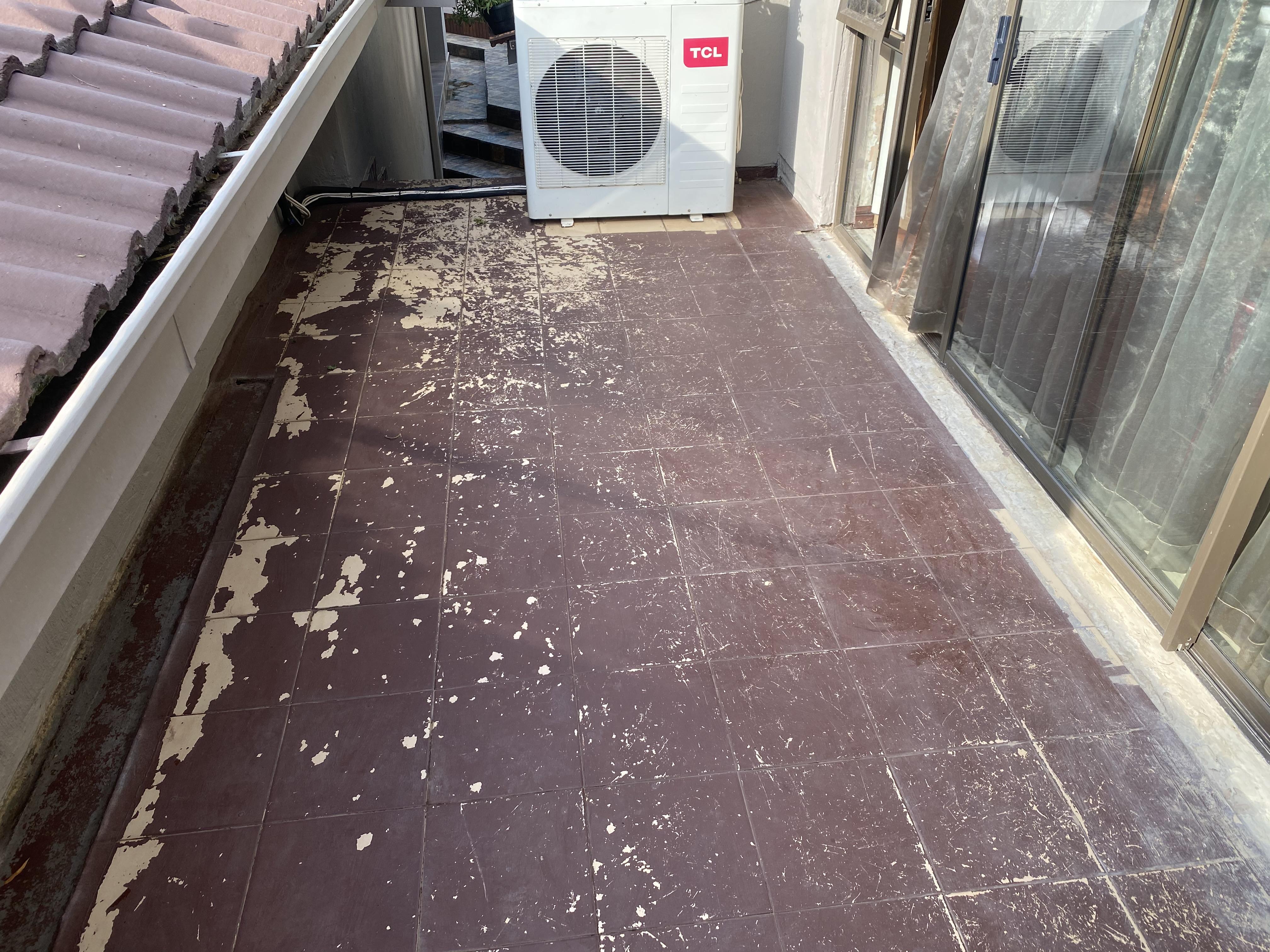 Soon to be Pebble Patio - Pebble Veranda - Pebble sitting area - Protective roof cover - Pebbled Balcony - Pebbles - PebbleKote
